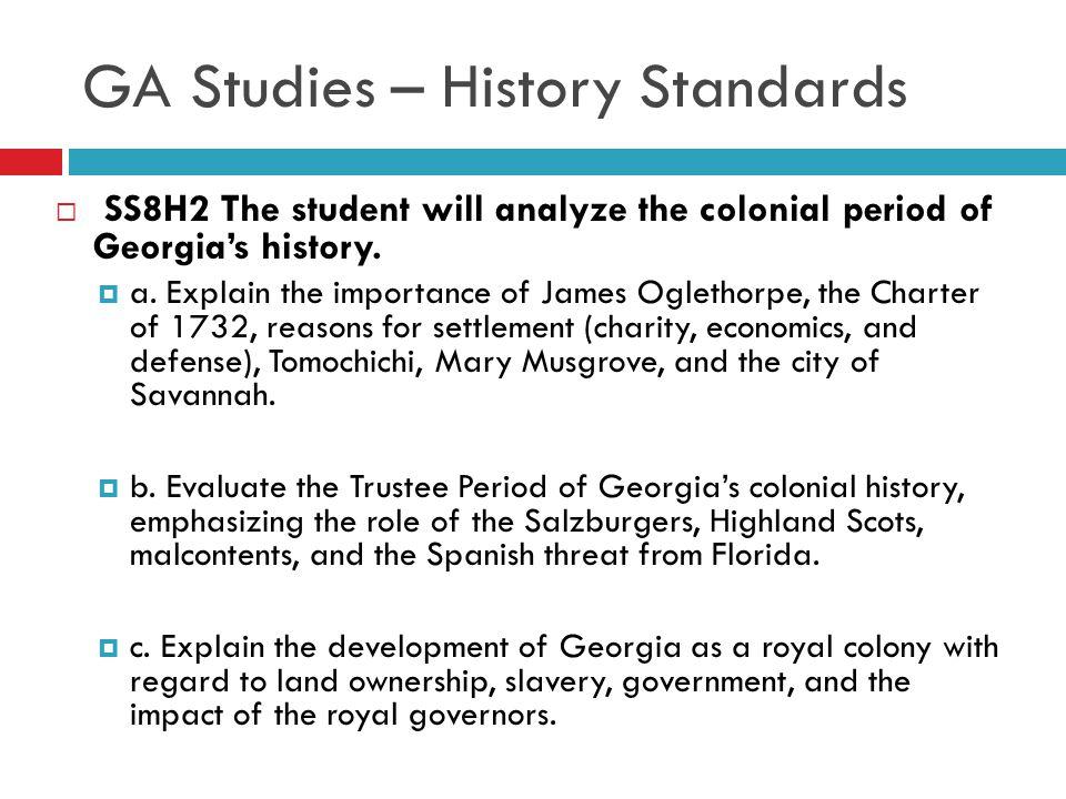 GA Studies – History Standards