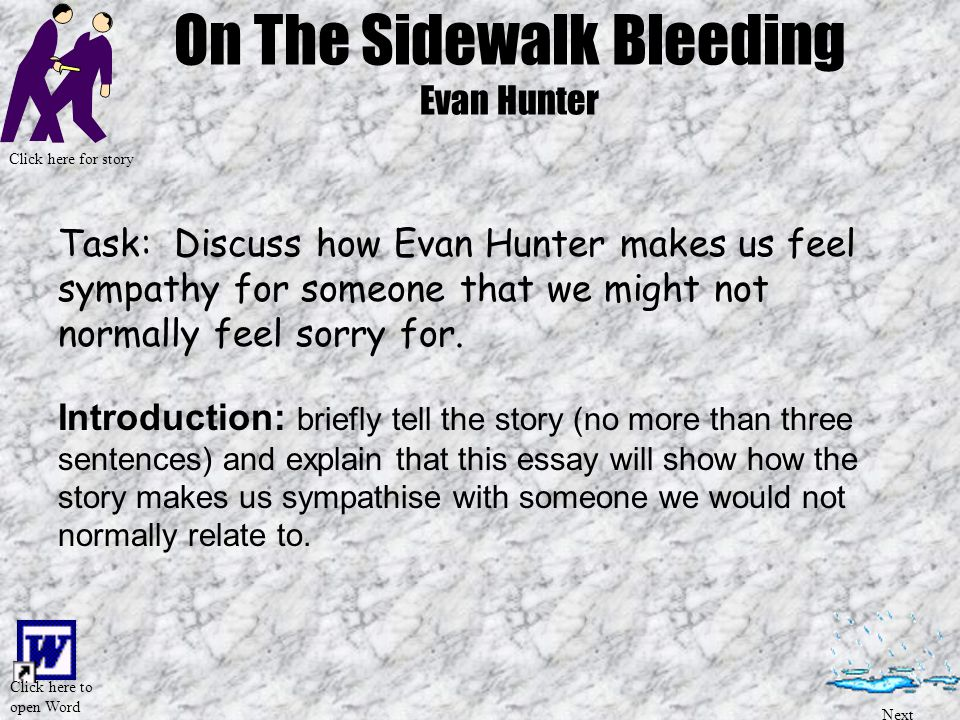 on the sidewalk bleeding ppt video online  on the sidewalk bleeding