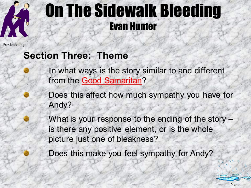 """On the Sidewalk, Bleeding"": Analysis & Theme"