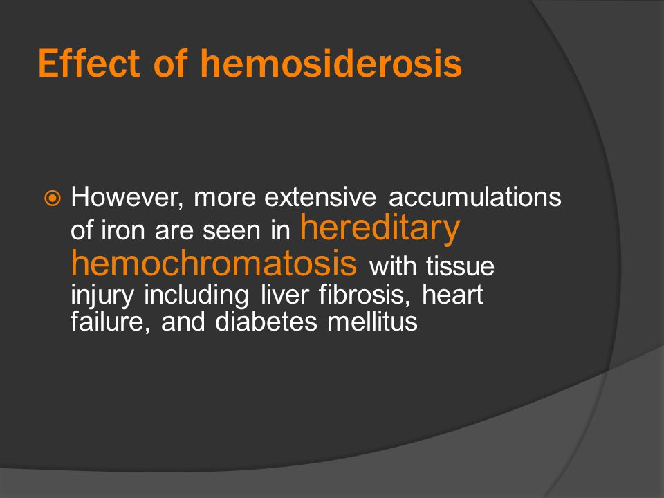 Effect of hemosiderosis