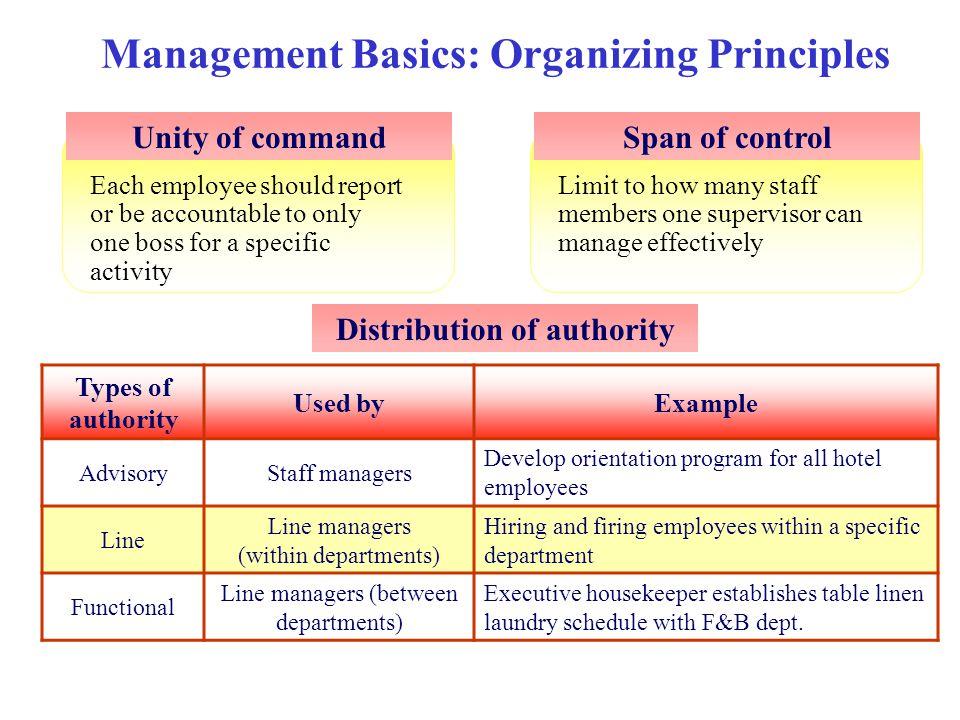 Management Basics: Organizing Principles
