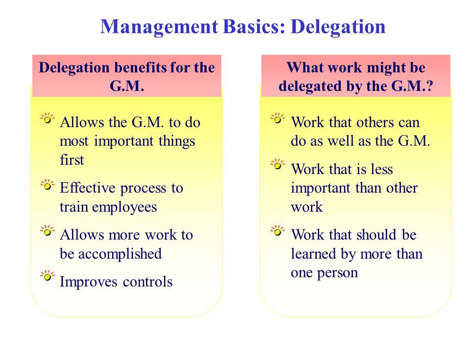 Management Basics: Delegation