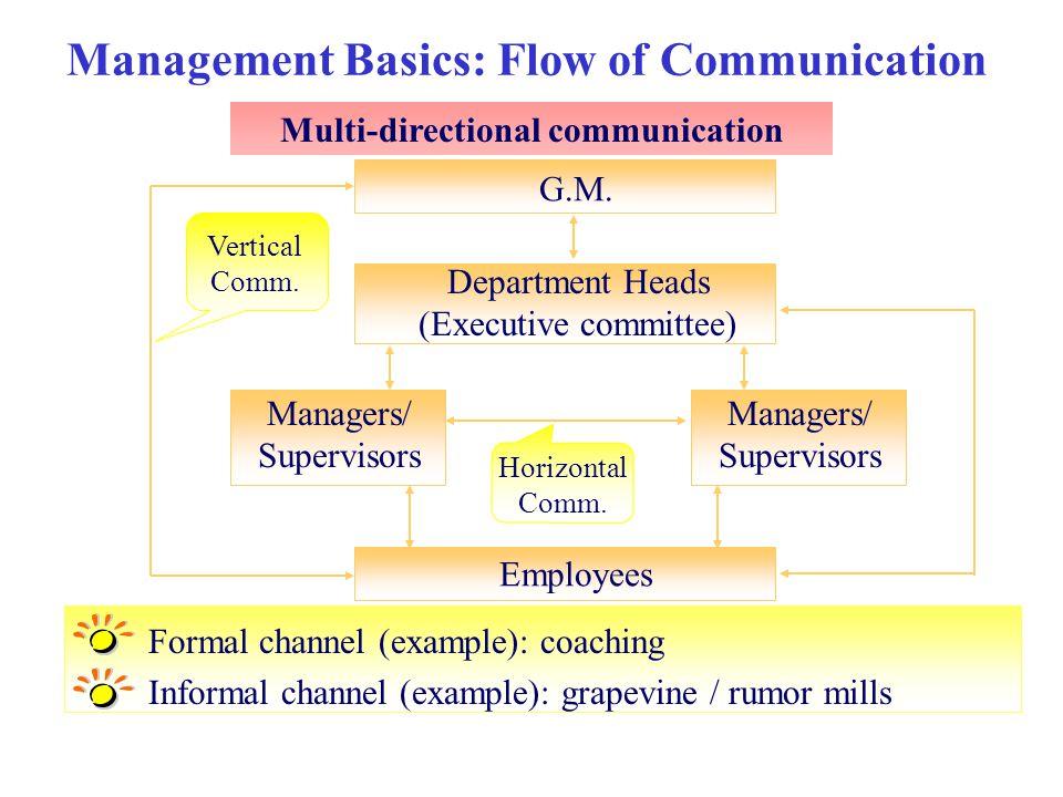 Management Basics: Flow of Communication