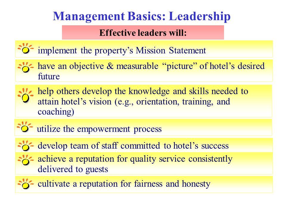Management Basics: Leadership