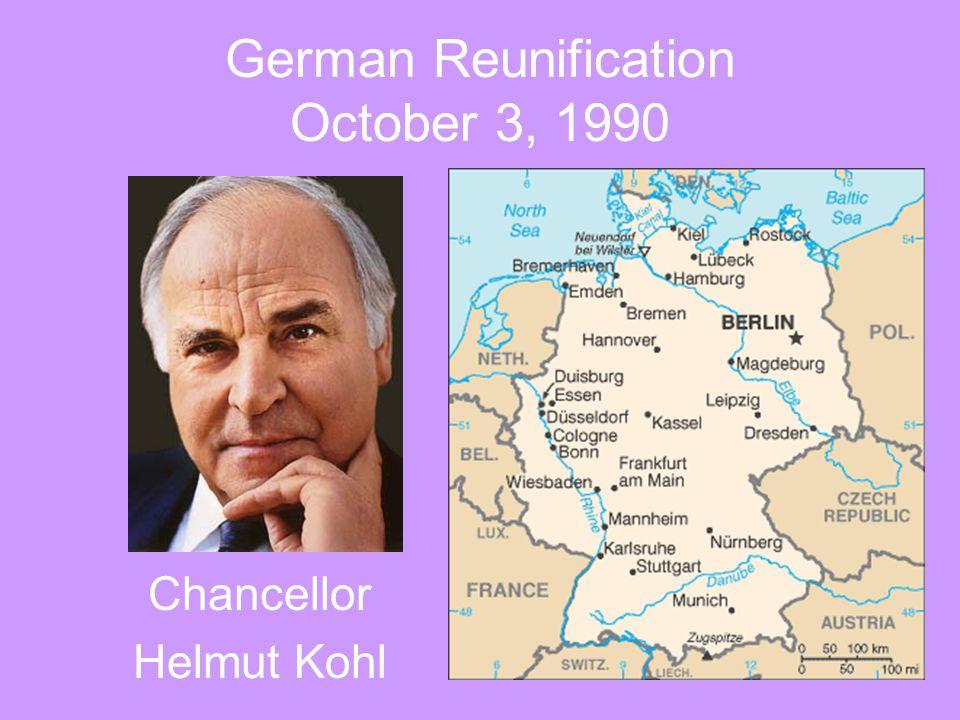 German Reunification October 3, 1990