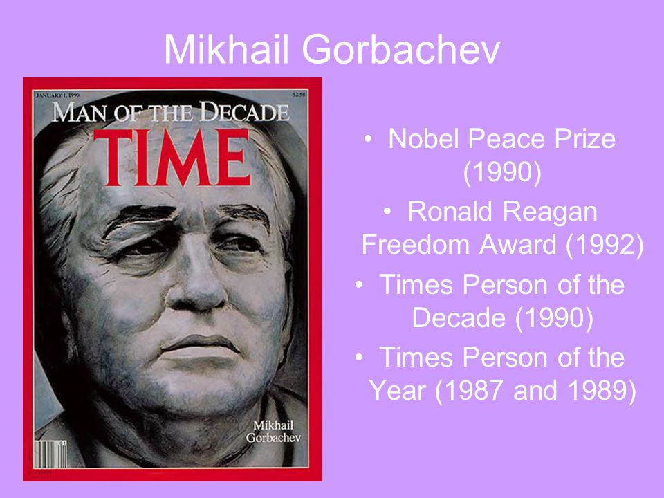 Mikhail Gorbachev Nobel Peace Prize (1990)