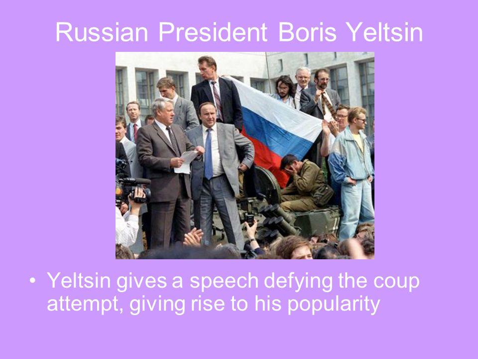 Russian President Boris Yeltsin