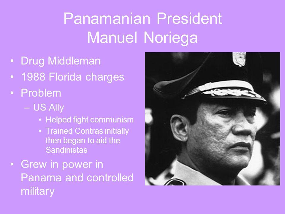 Panamanian President Manuel Noriega