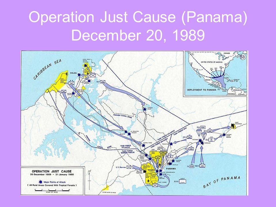 Operation Just Cause (Panama) December 20, 1989