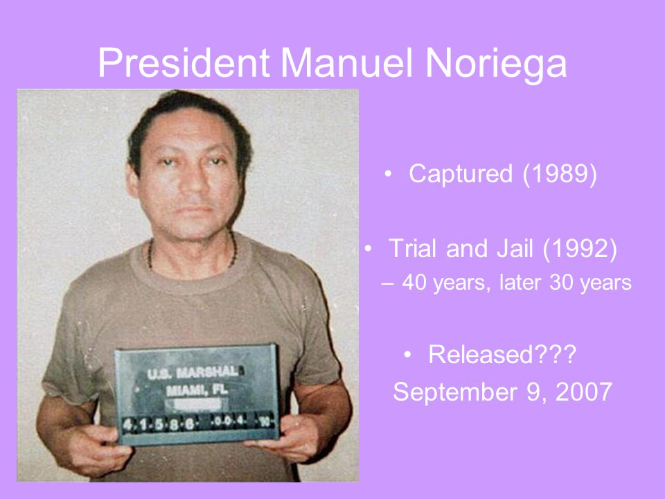 President Manuel Noriega
