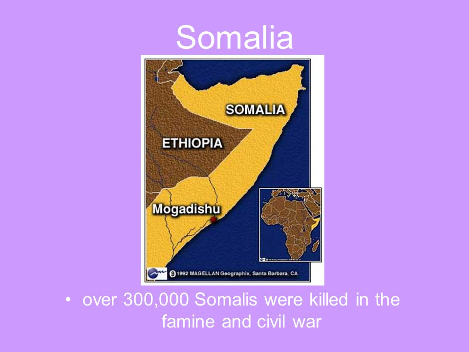 over 300,000 Somalis were killed in the famine and civil war