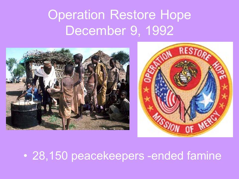 Operation Restore Hope December 9, 1992