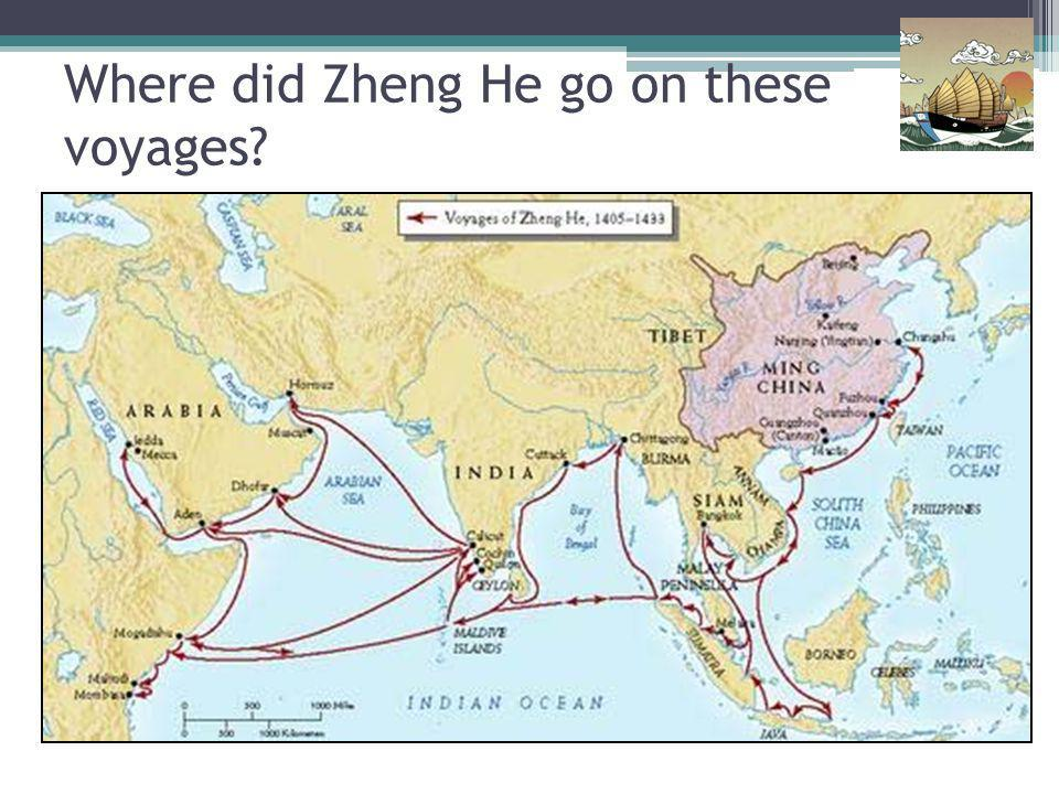 Where did Zheng He go on these voyages