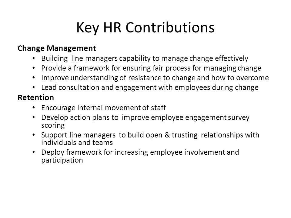 Key HR Contributions Change Management Retention