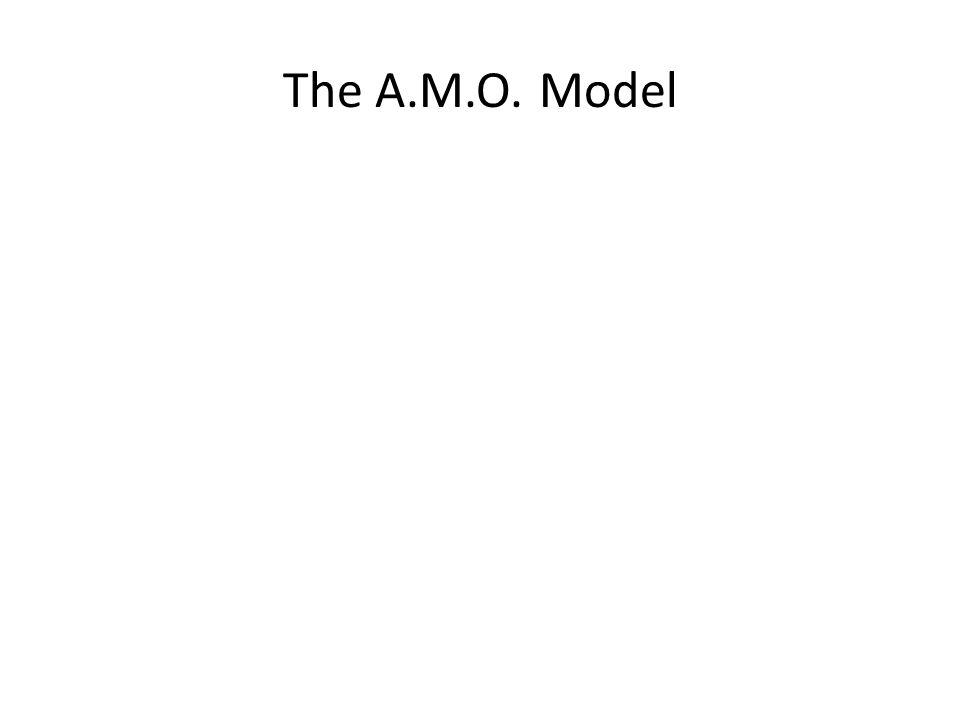 The A.M.O. Model