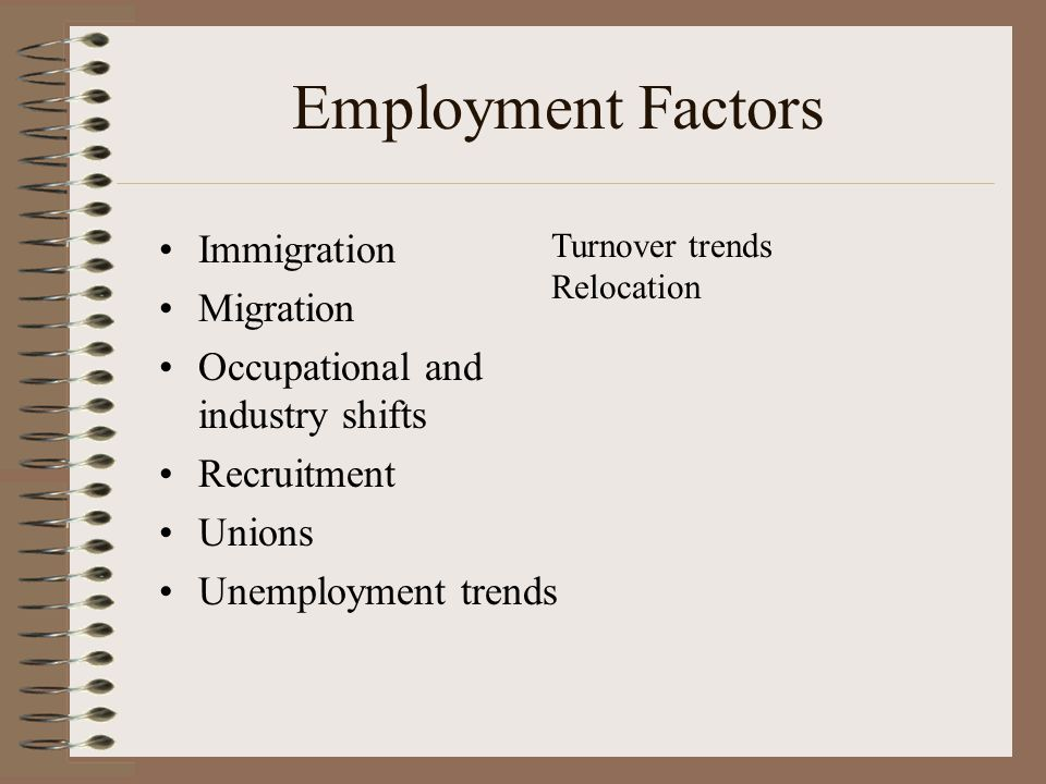 Employment Factors Immigration Migration