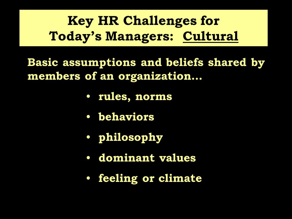 Key HR Challenges for Today's Managers: Cultural