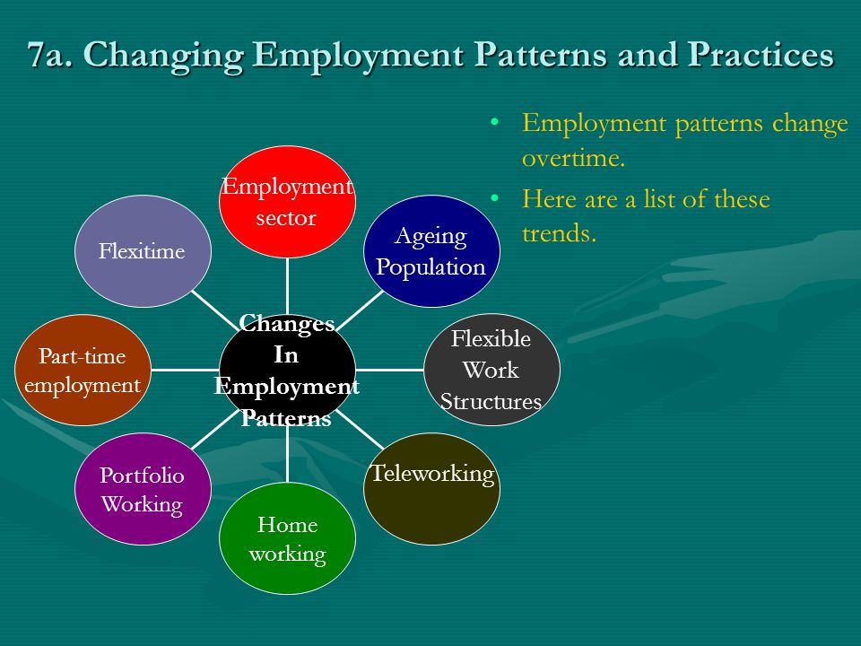 7a. Changing Employment Patterns and Practices