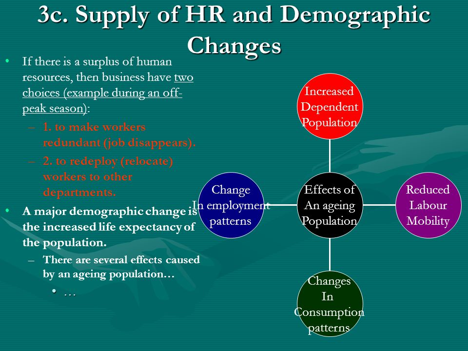 3c. Supply of HR and Demographic Changes