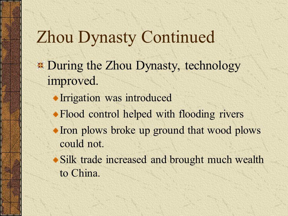 Zhou Dynasty Continued