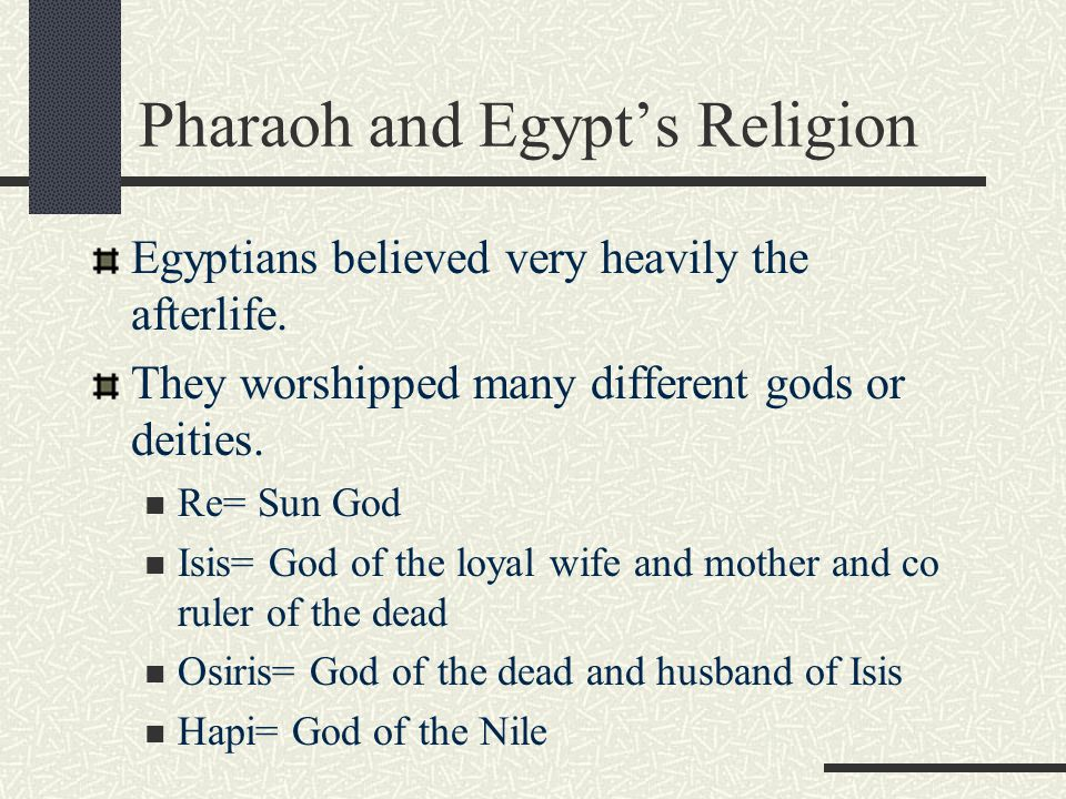 Pharaoh and Egypt's Religion