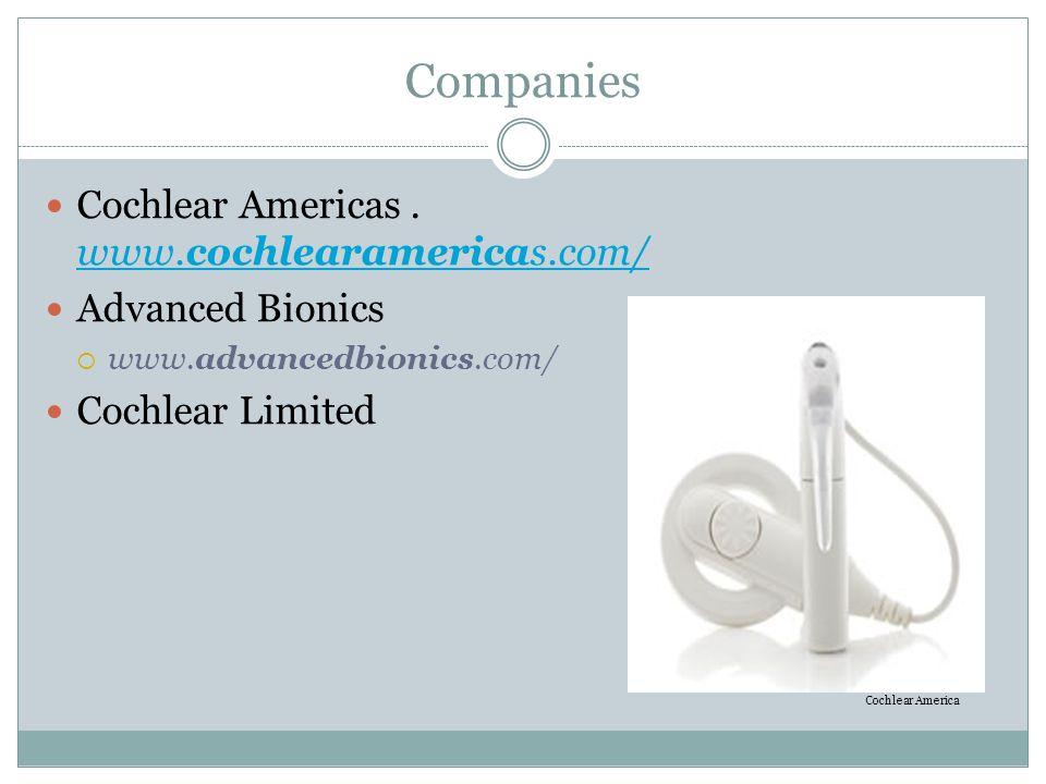 Companies Cochlear Americas . www.cochlearamericas.com/