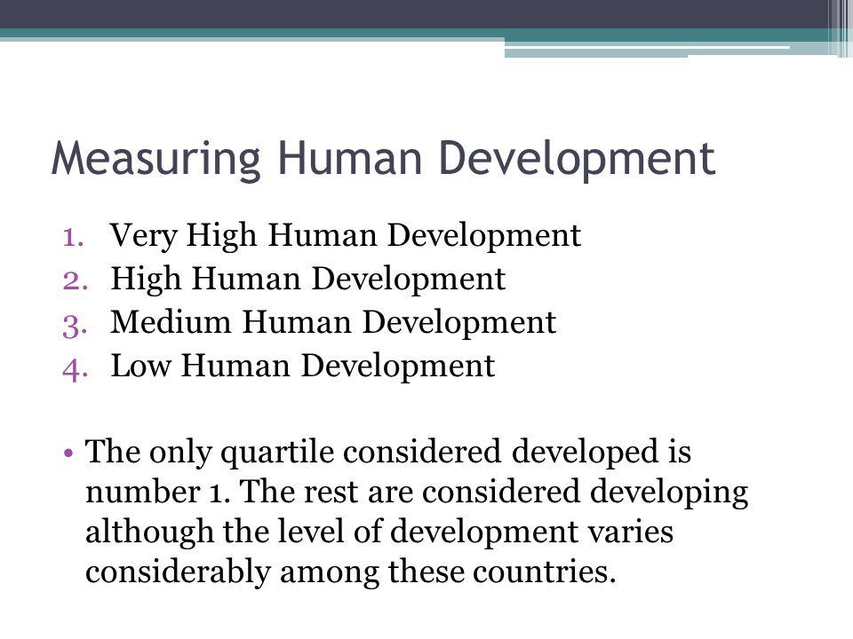 Measuring Human Development