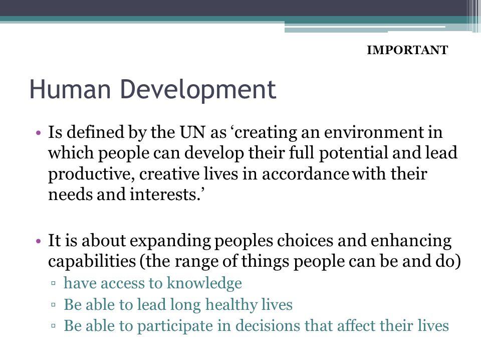 IMPORTANT Human Development.