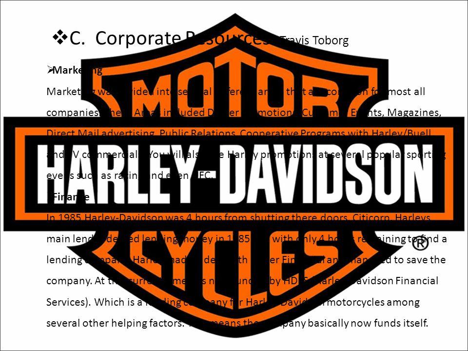 C. Corporate Resources Travis Toborg