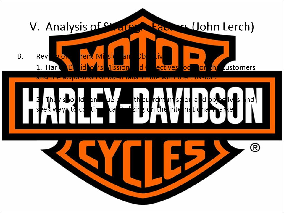 V. Analysis of Strategic Factors (John Lerch)