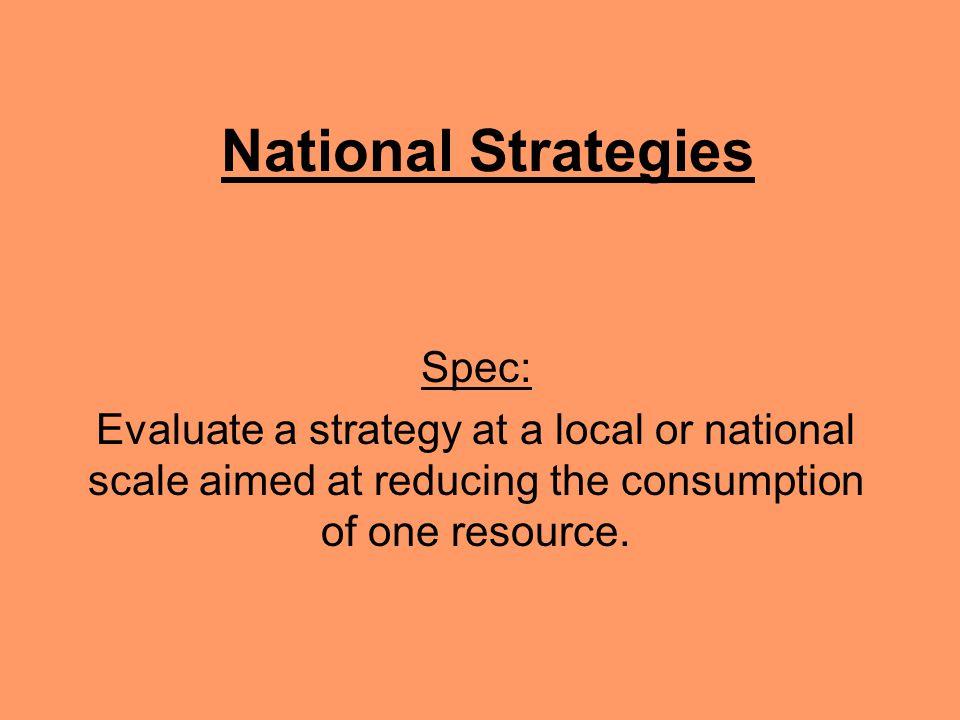 National Strategies Spec: