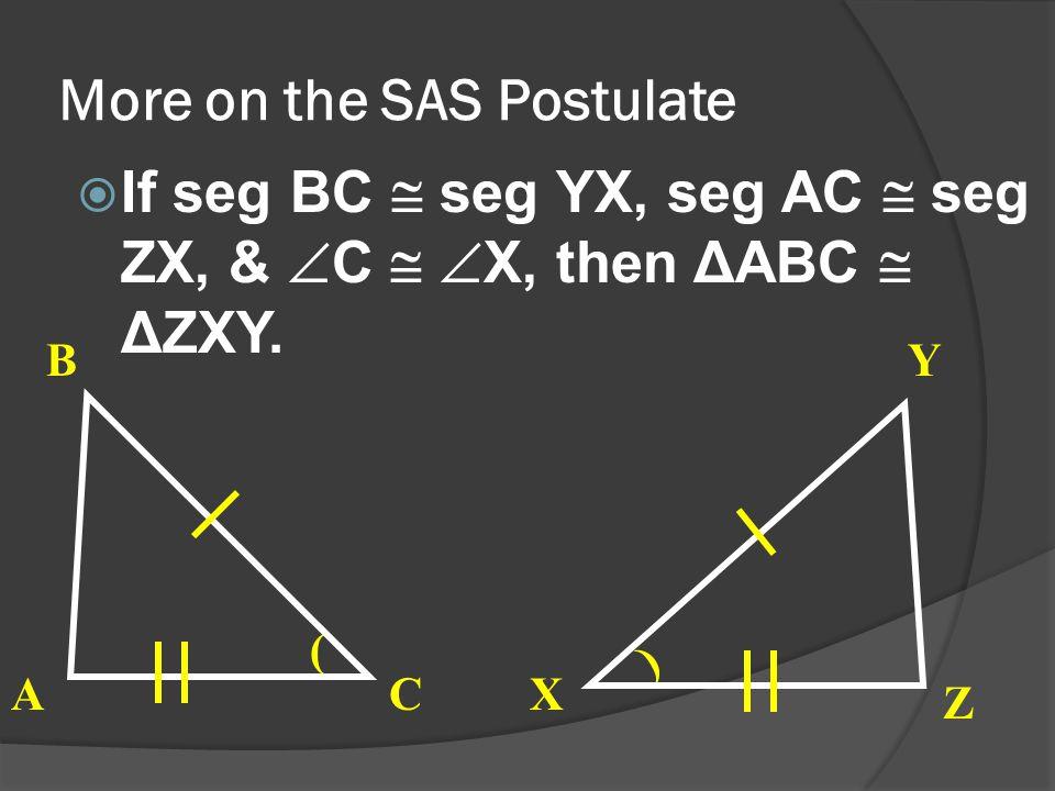 More on the SAS Postulate