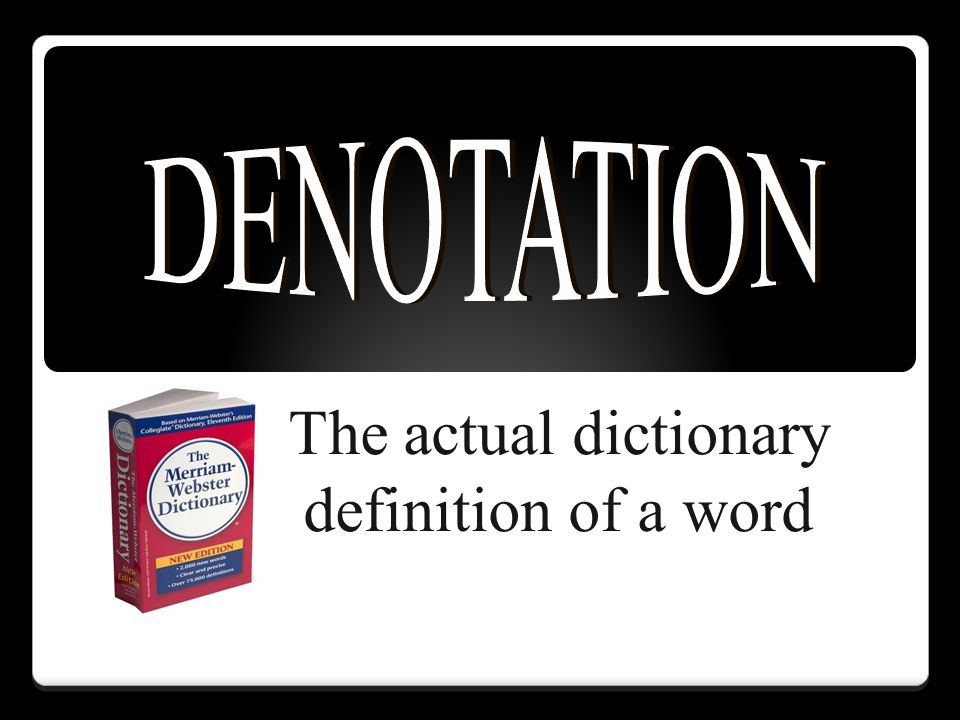 The actual dictionary definition of a word