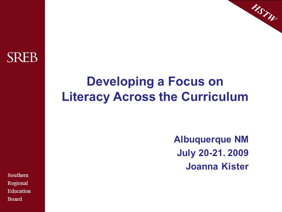 Developing a Focus on Literacy Across the Curriculum