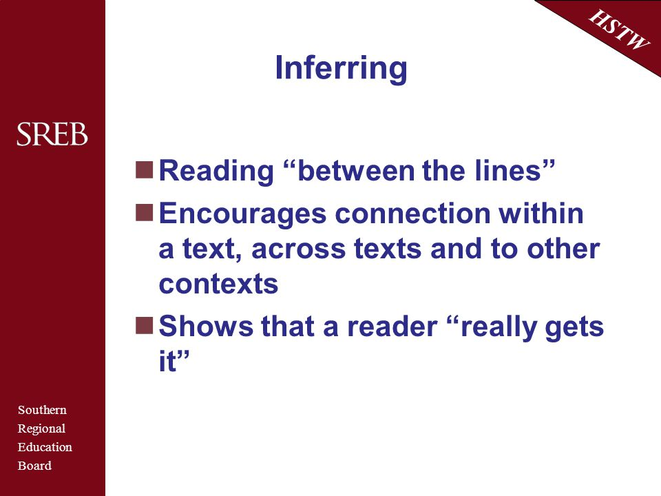 Inferring Reading between the lines