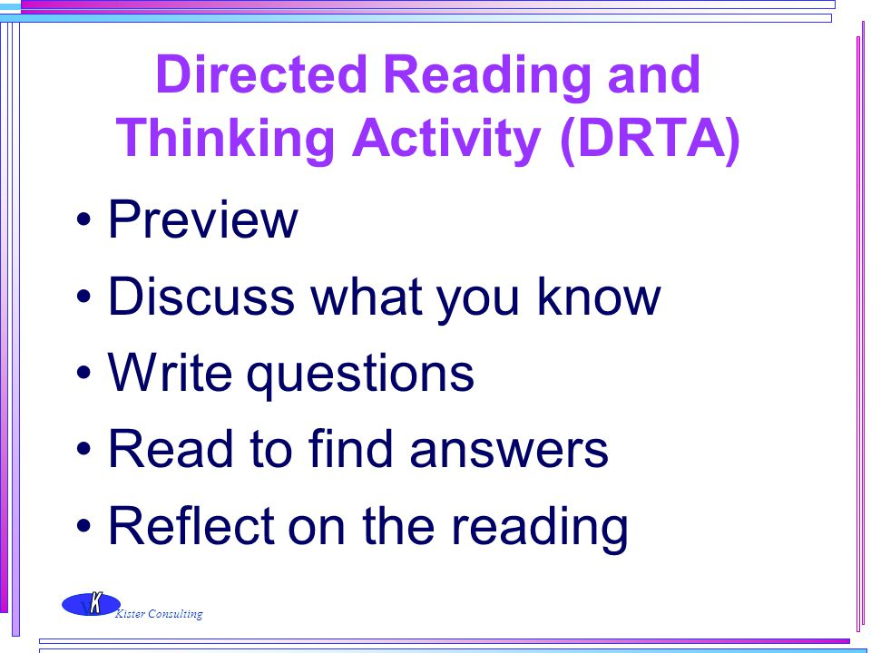 Directed Reading and Thinking Activity (DRTA)