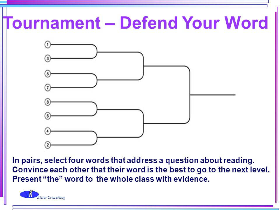 Tournament – Defend Your Word