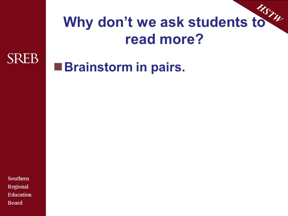 Why don't we ask students to read more