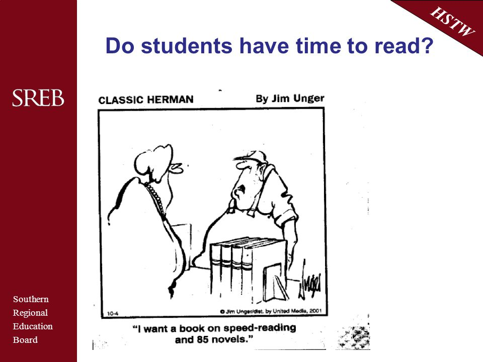 Do students have time to read