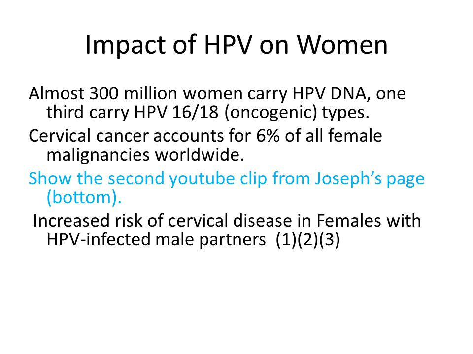 Impact of HPV on Women