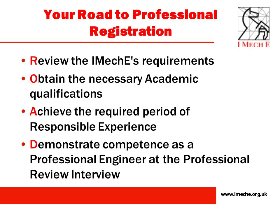 Your Road to Professional Registration