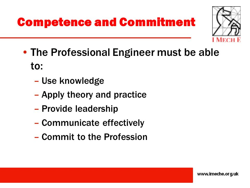 Competence and Commitment