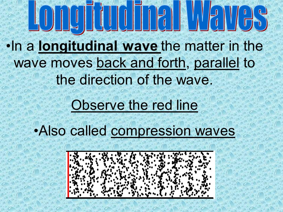 Also called compression waves