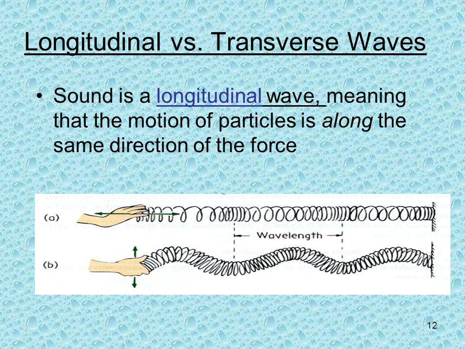 Longitudinal vs. Transverse Waves