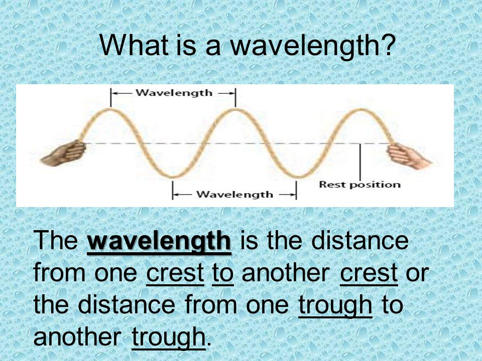What is a wavelength.