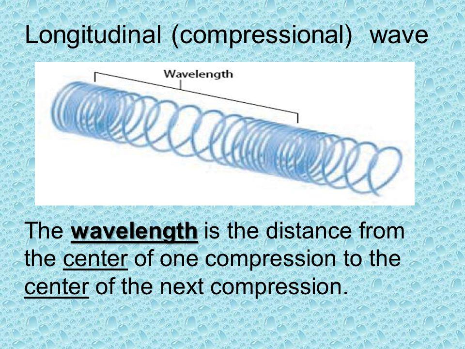 Longitudinal (compressional) wave