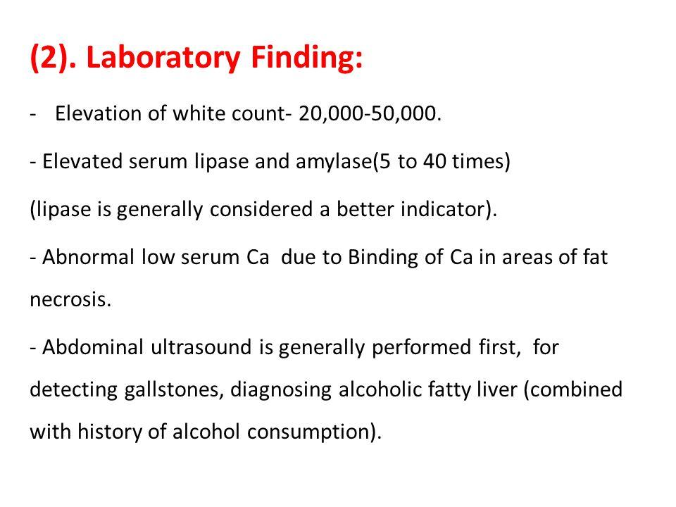 (2). Laboratory Finding: