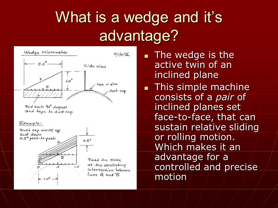 What is a wedge and it's advantage