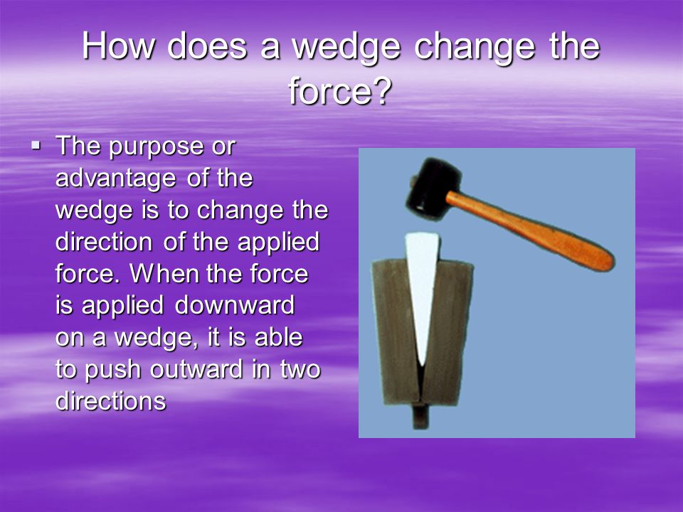 How does a wedge change the force