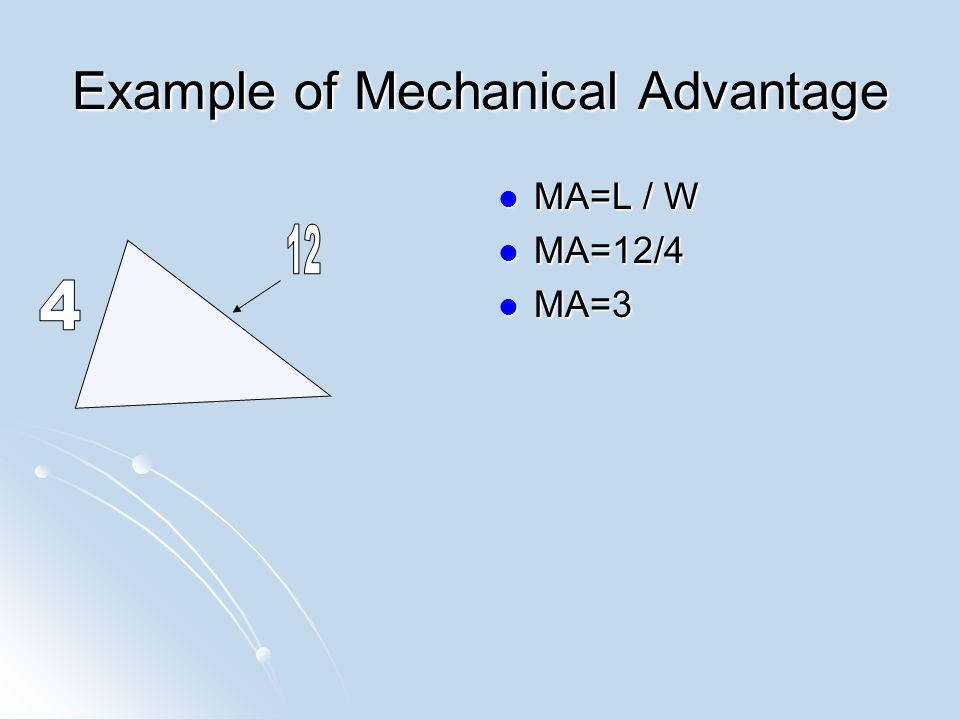 Example of Mechanical Advantage